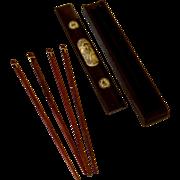 Wooden Chop Stick Box with Bone Etching & Inlaid Chopsticks