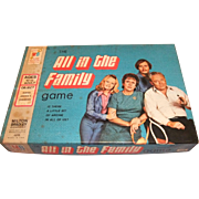 All In The Family Game Milton Bradley 1972 Vintage Archie Bunker Game