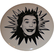 SOLD Vintage Batman Joker Cesar Romero Button Pinback