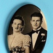 1920s Photographic Mirror – Newlyweds