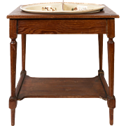 Babys Washstand with Kate Greenaway decorations,