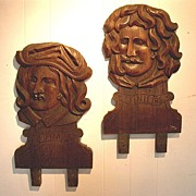 Carved Art Shop Heads