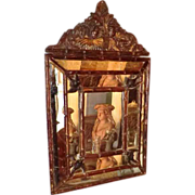 SOLD Brass  Cushion Mirror from Paris.
