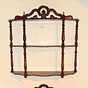 A pretty and delicate matching pair of wall Shelfracks from France circa 1900
