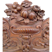 SOLD Carved Pediment from Italy
