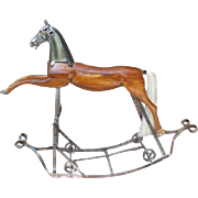 SOLD Antique Rocking Horse from France.