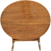 Walnut Wine Table from Burgundy, France.
