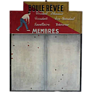 Boules Club Noticeboard from  France