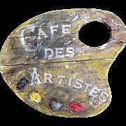 SOLD Vintage 'Café Des Artistes' Signboard