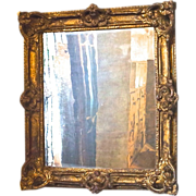 19thC. French Mirror in original Papier-Maché Frame