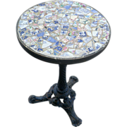 'Picassiette' mosaic top Bistro Table.