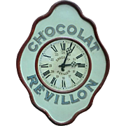 Vintage Advertising Clock 'Chocolat Revillon' from France