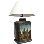 19th Century Tea Canister Table Lamp