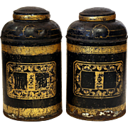 Pair of Victorian Tea Caddies from England.