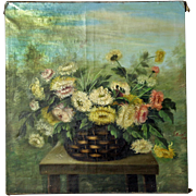 Still-Life Oil Painting of Chrysanthemums