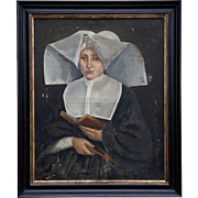 Early 19thC. Oil Painting of a Nun
