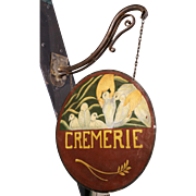 'Cremerie' Hand-painted Trade Sign from France