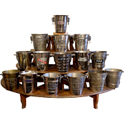 Fine Collection of 15 Vintage Silver-Plated Advertising Champagne Buckets