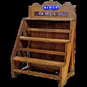 Old Wooden Chocolate Shop Shelfrack from France.