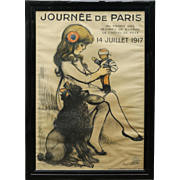 Rare Original World War I Framed Poster from France
