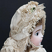 Wonderful Antique Original French Bavolet Bonnet for Jumeau Bru Steiner Eden Bebe French doll