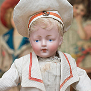 "11"" (28 cm) Antique All Original German Bisque Character doll,178,by Kestner in Mariner C"