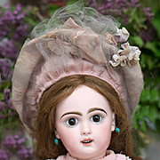 19in (49 cm) Antique French Jumeau Bebe Doll size 8 with rare Depose sleep eyes, antique origi
