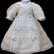 Very Beautiful Antique Original Organza Dress and Slip for Jumeau Bru Steiner Eden Bebe or ...