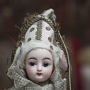 "SALE PENDING 16"" (41 cm) Petite Antique French Bisque Polichinelle Gaultier F.G. Doll in"