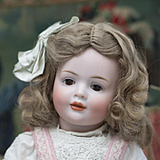 "15"" (36 cm) Antique German Bisque Glass-Eyed Art Character Doll 141,by Hertel & Schwab, g"