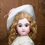 "27"" (69 cm) Very Beautiful Angel Face Eden Bebe doll  by Fleischmann&Blodel, in antique d"