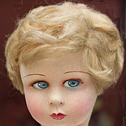 "17"" (43 cm.) Antique French Felt Raynal dol in excellent condition, c.1930"