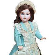 "SOLD 18"" (46 cm) Very Lovely Antique Beautiful French Bisque Open Mouth Bebe Jumeau doll"