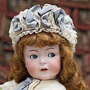"SALE PENDING 24"" (61 cm) Rare Antique German 616 Simon & Halbig Character doll with flirt"