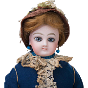 "14"" (36 cm.) Antique French Fashion Wide-Eyed Doll by Jumeau with Signed Jumeau Body ..."