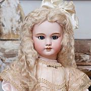"27"" (68 cm) Very Pretty Antique French Bisque Bebe DEP doll, Jumeau / SFBJ, circa 1900."