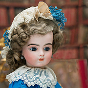 "19"" (49 cm) Very Beautiful Antique French Bisque Bebe Bru doll with Original Body and Lov"