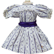 SOLD Antique Original French dress for Jumeau bru Steiner Eden bebe doll 14-15""