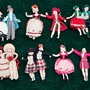 Very Rare antique original miniature  Mascotte dolls by madame LAZARSKI - the last owner of HU
