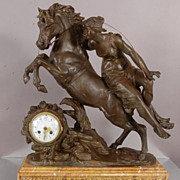 SALE French Louis XVI style figural mantel clock