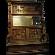 Horner Hand Carved Victorian Oak Hallseat,Gargoyles, Pyramids, Palm Trees, Bachus,Camels