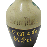Glen Forest Sour Mash  Whiskey Pottery  Advertising  Jug  A Graf & Co. St Louis
