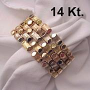 SOLD 14 Kt. Italian 3 Color Gold Bracelet - Circa 1945