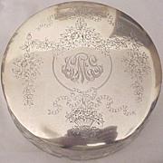 Superb Shreve Sterling & Floral Motif Cut Glass Jar