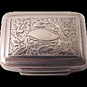 John Lawrence & Co. Hand Engraved Sterling Vinaigrette - Date Mark 1823