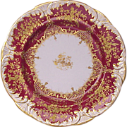 SALE Spode - Jeweled Copelands China Dinner Plate - Circa 1895