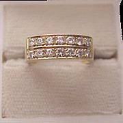 14K Yellow Gold and Diamond Ring - Circa 1965