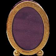 SOLD 10Kt. Gold Miniature Photo Frame - Circa 1910