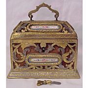 Sevres Perfume Casket With Key & Original Bottles Circa 1825