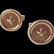 Tiffany & Co. 14kt. Gold Cuff Links / Cufflinks - Circa 1960